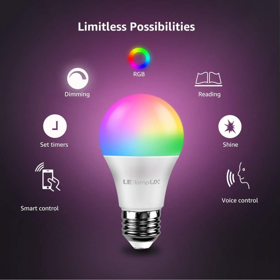 Smart Wi-Fi LED Light Bulbs - Works with Alexa, Google Assistant - No Hub Required - In Case Picture